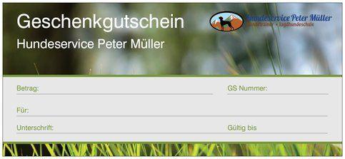 Gutschein Hundeservice Peter Müller