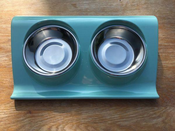 Napfkombination Melamin und Edelstahl mintgrün