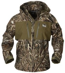 Banded Waterproof Quarter Zip Hooded Pullover